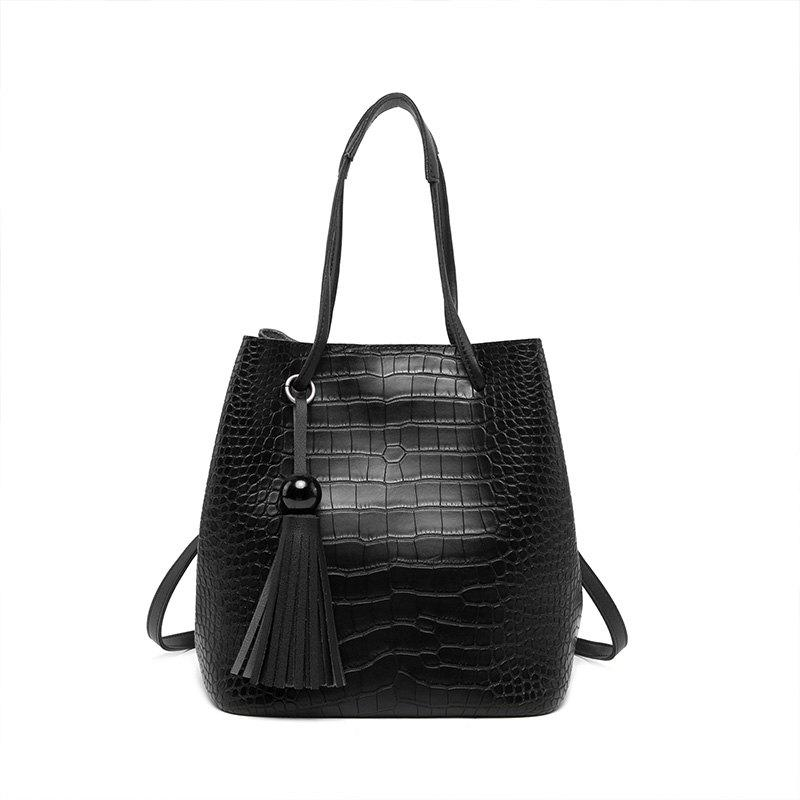 Simple Fashion Women Bag Leisure Single Shoulder Bag Hand Shoulder Bag Tide - BLACK