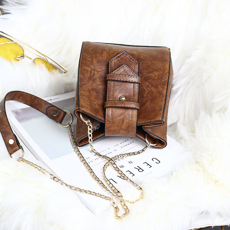 Fashion Casual Drawstring Bucket Bag Retro Handbag Tote Bag for Women With Shoulder Strap - BROWN