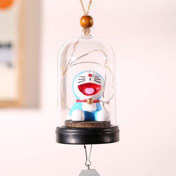 733 1PCS Creative Home Tintin Cat Night Light Carillons à vent - Bleuet