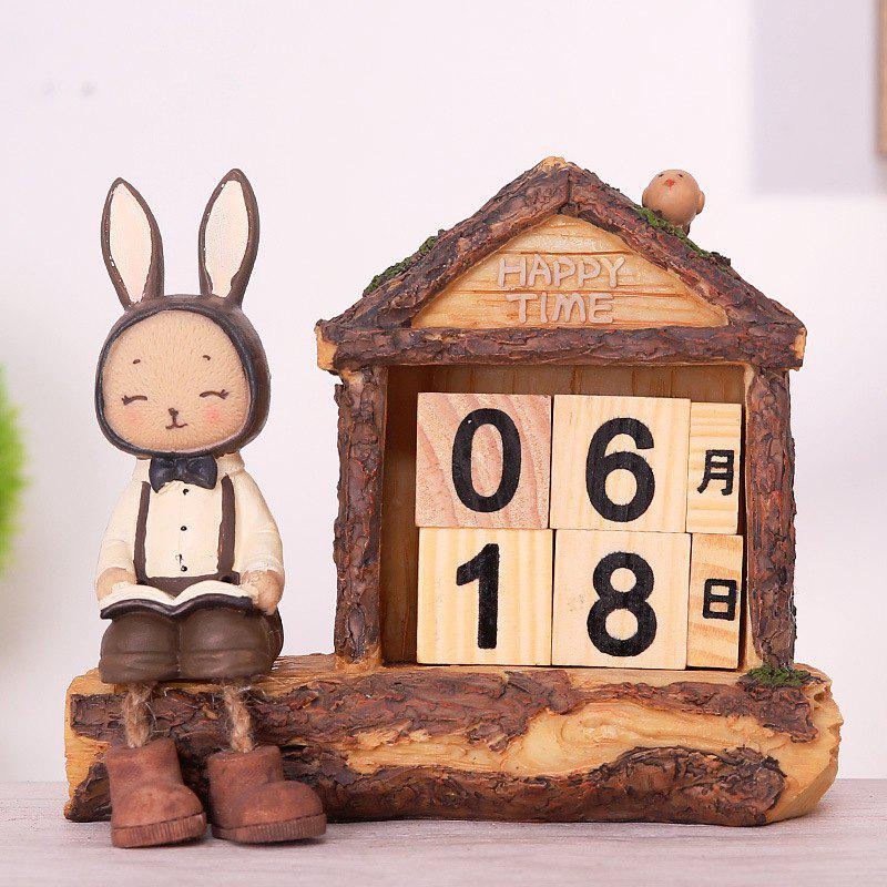 Creative Setting Rabbit Desktop Calendar Novel Decoration - PAPAYA MALE RABBIT