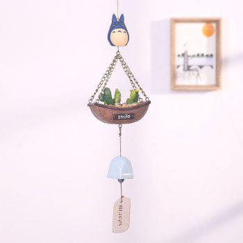 744 1PCS Creative Guardian Angel Wind Bell - BLUE THE CACTUS MODEL