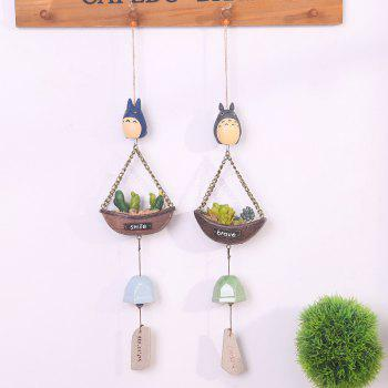 744 1PCS Creative Guardian Angel Wind Bell - GRAY GRAY