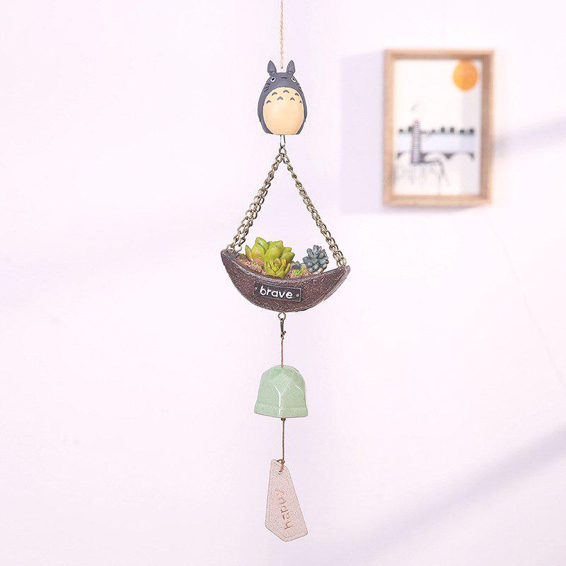 744 1PCS Creative Guardian Angel Wind Bell - GRAY WITH MORE MEAT