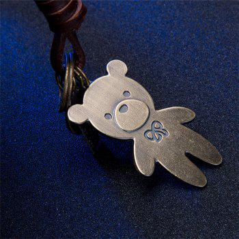 Men's Key Ring Alloy PU Creative Bear Design Key Ring Accessory -  BRONZED