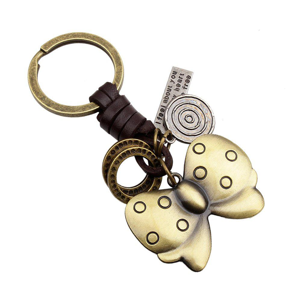 Metal  butterfly Creative Key Chain - GOLD