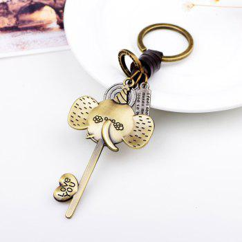 Lovely Elephant Metal Key Chain -  GOLD