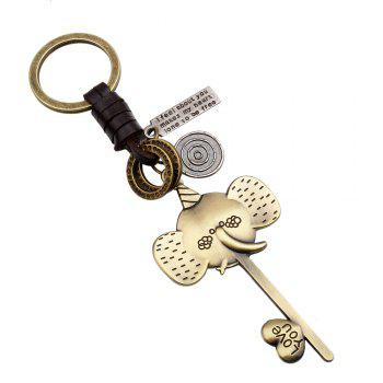 Lovely Elephant Metal Key Chain - GOLD GOLD