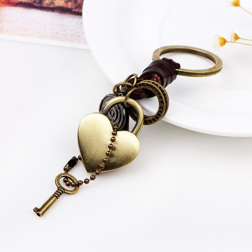 Porte-clés Punk Style Love Metal Heart - Or