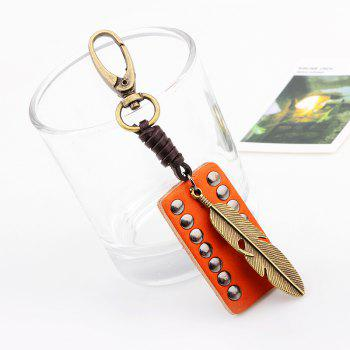 Retro Golden Feather Key Chain - GOLD