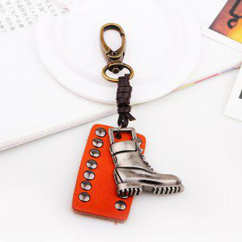 Punk Style Shoe Leather Key Chain -  COFFEE LIQUEUR
