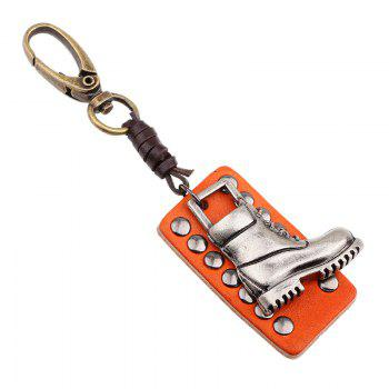 Punk Style Shoe Leather Key Chain - COFFEE LIQUEUR COFFEE LIQUEUR