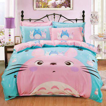 Autumn Cute Cat Pattern Bedding Article 4PCS - CHAMBRAY DOUBLE