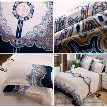 Autumn Retro Pattern Bedding article Four piece suit - LAPIS DOUBLE