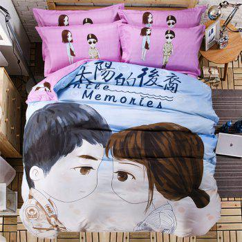 Autumn Portrait Pattern Bedding article Four piece suit - CHAMBRAY CHAMBRAY