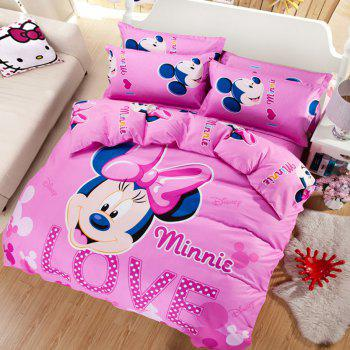Autumn Mickey Mouse  Pattern Bedding article Four piece suit - PINK PINK