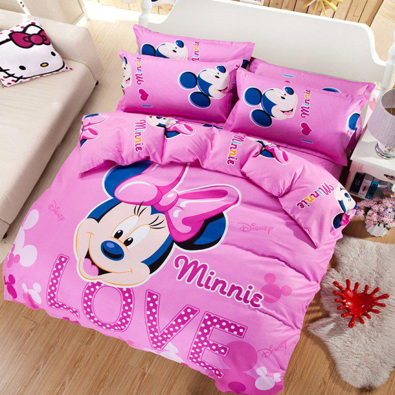 Autumn Mickey Mouse  Pattern Bedding article Four piece suit - PINK DOUBLE