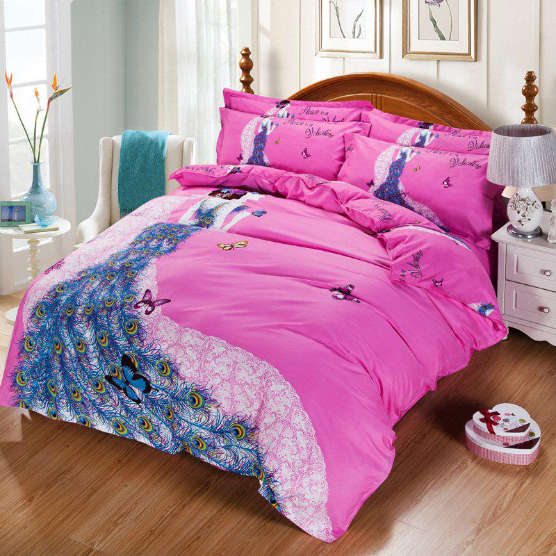 Autumn Art  Pattern Bedding article Four piece suit - PINK DOUBLE