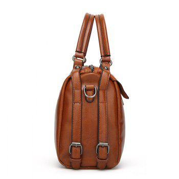 The Oil Wax Leather Vintage Fashion Style with A Handbag with A Multi-Functional Bag - BROWN