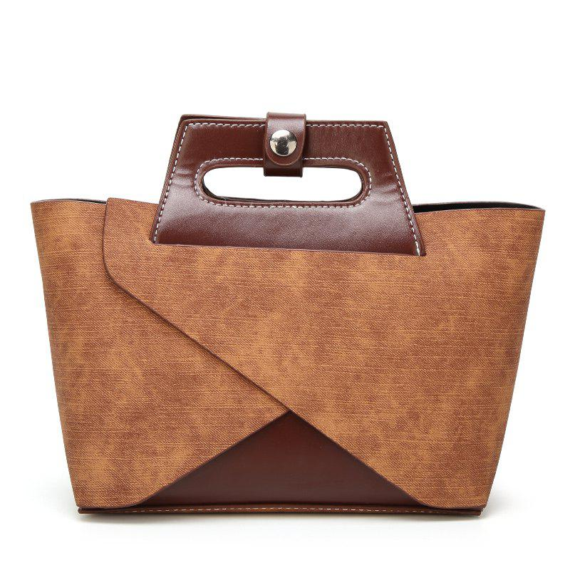 Leisure Time Retro Satchel - BROWN