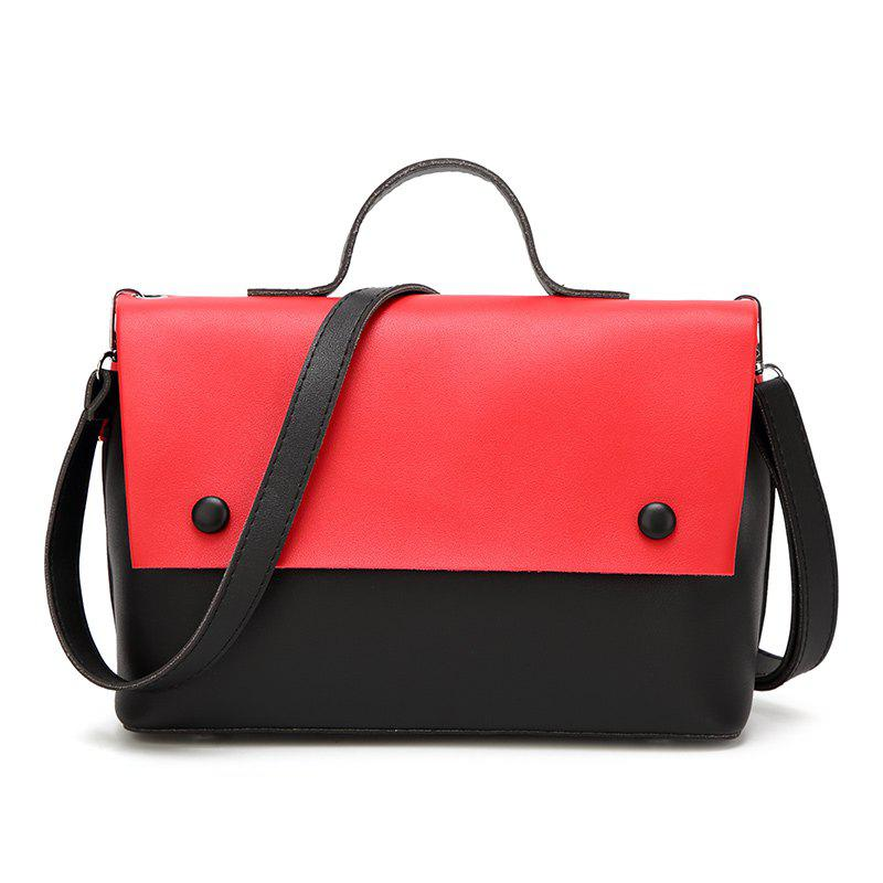 New Style Leisure Inclined Bag - RED/BLACK