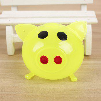 1PC Creative Vent Toys Spoof Strange Water Eggs Pig Stress Reliever - COLORMIX 5.5*6CM