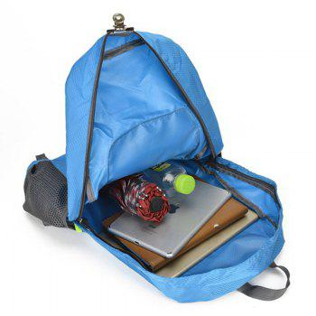 Travel Outdoors Foldable Pack Male and Female General Large-Capacity Mountaineering Bag -  BLUE
