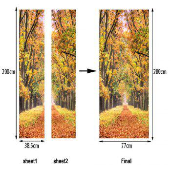 Autumn Leaves Wall Sticker Mural Bedroom Door Poster Home Decor - MIXED COLOR MIXED COLOR