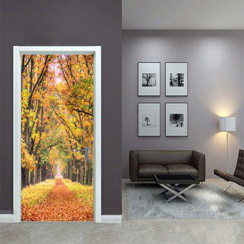 Autumn Leaves Wall Sticker Mural Bedroom Door Poster Home Decor - MIXED COLOR 77 X 200 CM