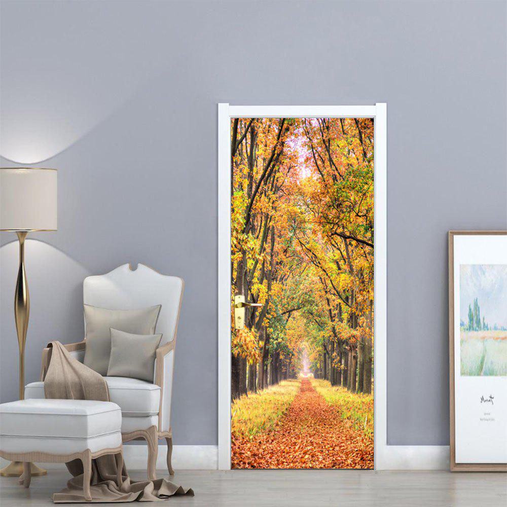 Home Wall Decor Online: 2018 Autumn Leaves Wall Sticker Mural Bedroom Door Poster