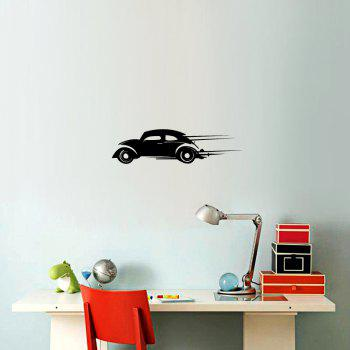 DSU Speeding Car Simple Art Wall Stickers - BLACK 21 X 58CM