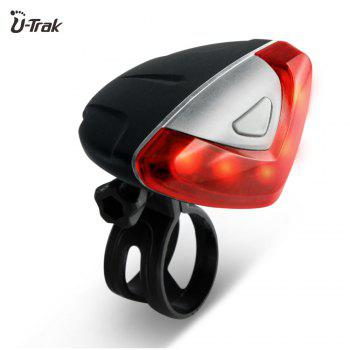 Mountain Bike Safety Feature Supper Bright Rear Tail Light Easy Installation Waterproof Led Bicycle Light - RED WITH BLACK RED/BLACK