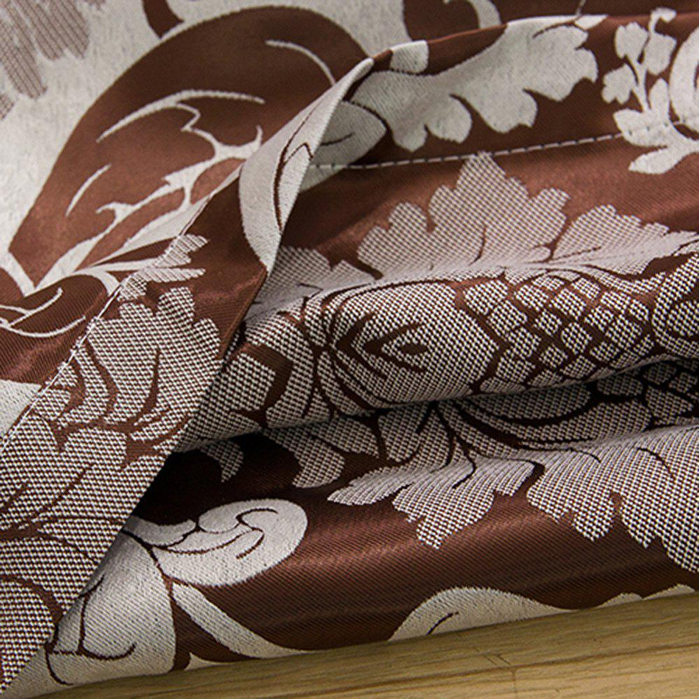 European Simple Style Jacquard Living Room Bedroom Dining Room Curtain - BROWN 2 X (42W×96L)
