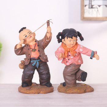2PCS Creative Resin Arts and Crafts Children Play - COLORFUL COLORFUL