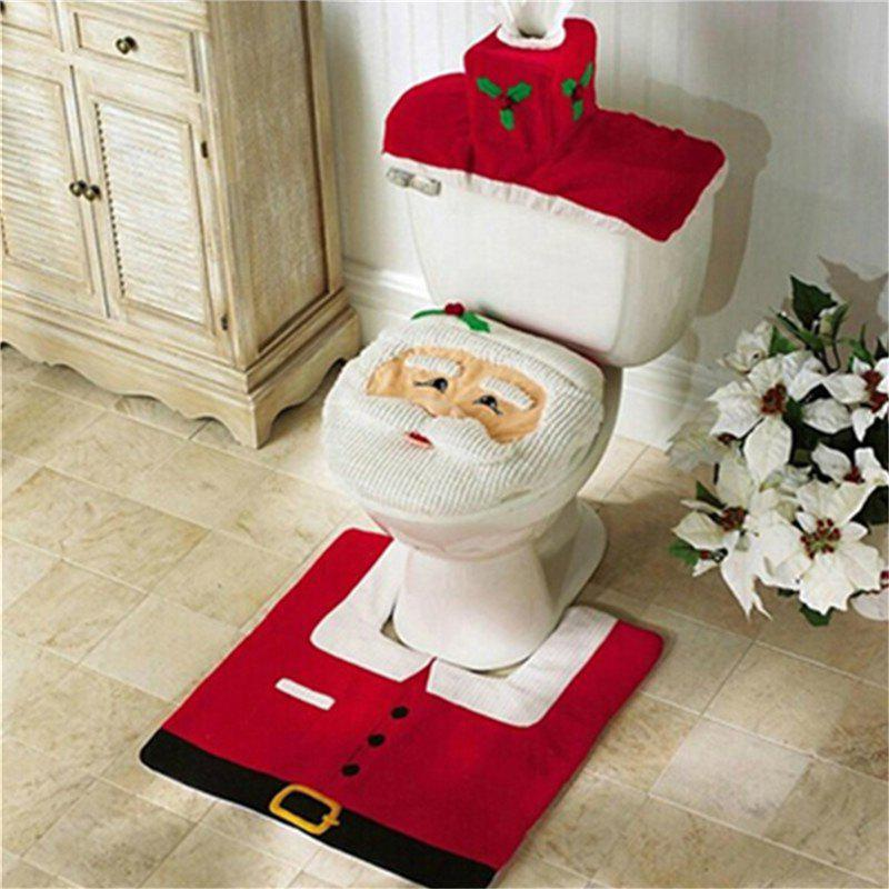 WS0050 Merry Christmas Happy New Year Best Christmas Gift Decorations Bathroom Toilet Seat Carpet yeduo woman sexy apron new year christmas decorations