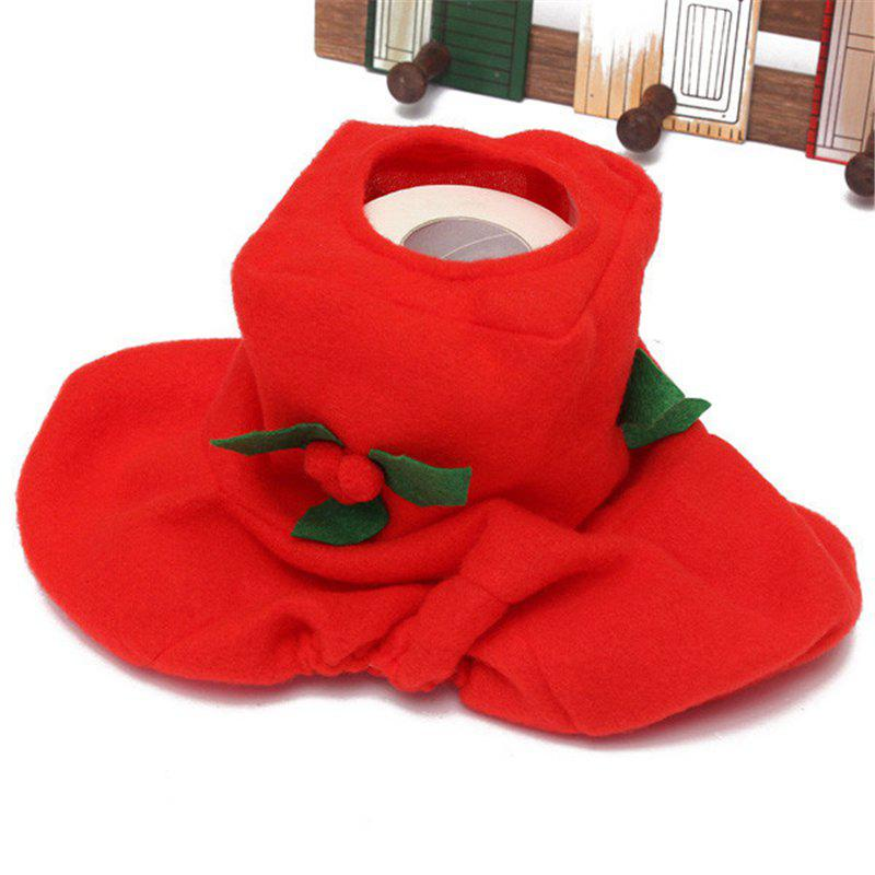 WS0050 Merry Christmas Happy New Year Best Christmas Gift Decorations Bathroom Toilet Seat Carpet - FLAME