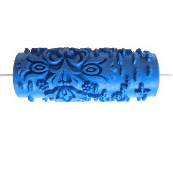 Samrui 5 Inch Roller Rubber Printing Brush Liquid Wallpaper Knurling Mold - ELECTRIC BLUE ELECTRIC BLUE