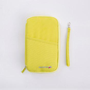 Handbag Bag Country Card Package Portable Travel Passport Bag Protective Bag Certificate Bag Passport Folder Ticket Holder Handbag - YELLOW YELLOW
