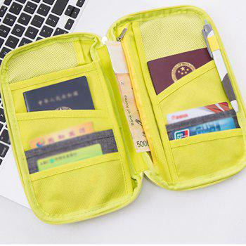Handbag Bag Country Card Package Portable Travel Passport Bag Protective Bag Certificate Bag Passport Folder Ticket Holder Handbag -  YELLOW