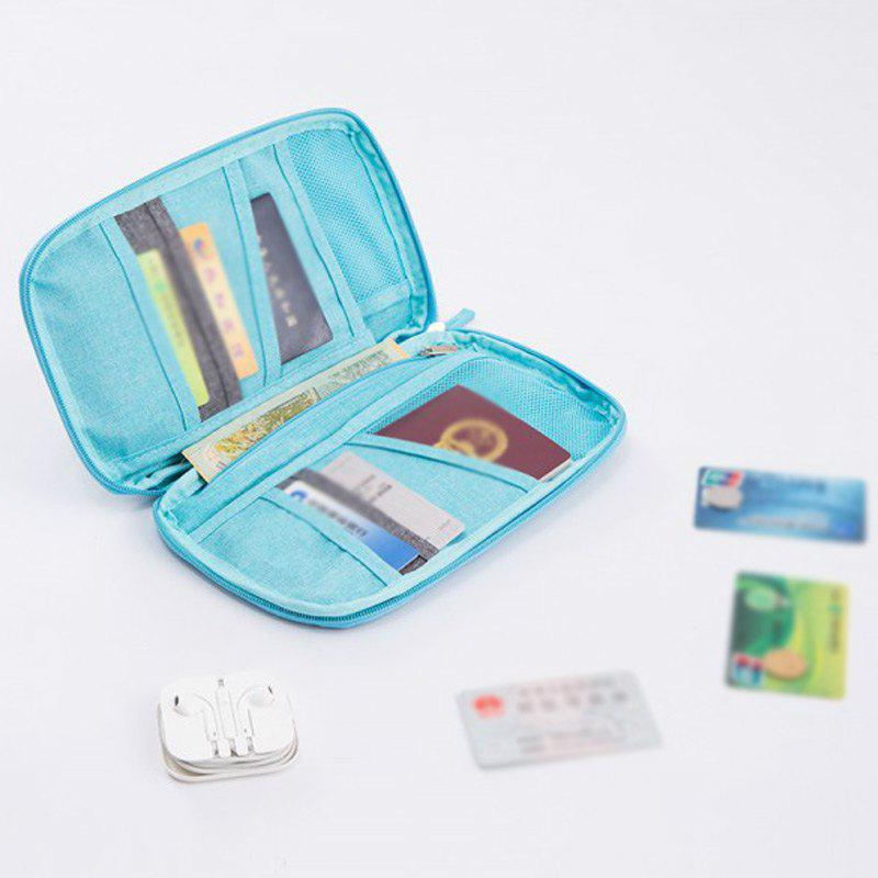 Handbag Bag Country Card Package Portable Travel Passport Bag Protective Bag Certificate Bag Passport Folder Ticket Holder Handbag - BLUEBELL