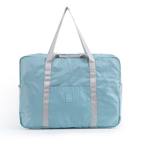 Foldable Travel Bag Luggage Bag Pants Women'S Trolley Bag Portable Light Fitness Kit Short-Distance Travel Bag Male Large Capacity - STONE BLUE
