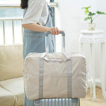 Foldable Travel Bag Luggage Bag Pants Women'S Trolley Bag Portable Light Fitness Kit Short-Distance Travel Bag Male Large Capacity -  BEIGE