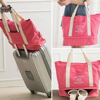Storage Bag Large Capacity Multi Fuction Clothes Container Travelling Bag - WATERMELON RED
