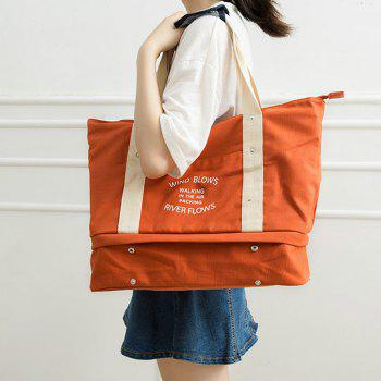 Storage Bag Large Capacity Multi Fuction Clothes Container Travelling Bag -  ORANGE YELLOW