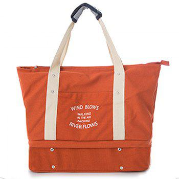 Storage Bag Large Capacity Multi Fuction Clothes Container Travelling Bag - ORANGE YELLOW ORANGE YELLOW