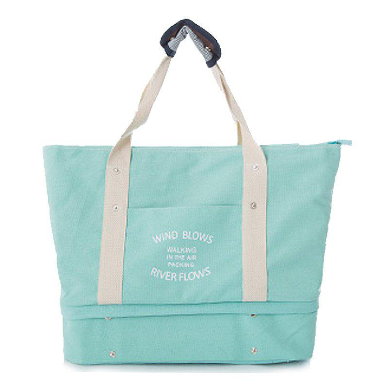 Storage Bag Large Capacity Multi Fuction Clothes Container Travelling Bag - LAKE BLUE