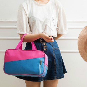 Sac à main pour femme All Match Chic Patch Nylon Color Block Sac à main - rose