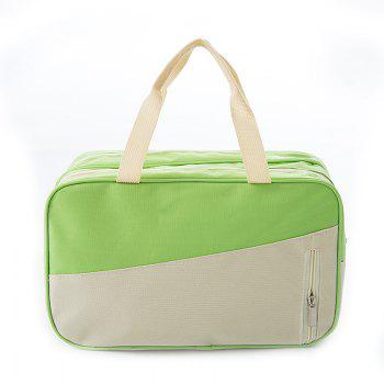 Women's Handbag All Match Chic Patch Nylon Color Block Fashion Bag - GREEN GREEN