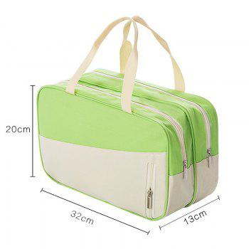 Women's Handbag All Match Chic Patch Nylon Color Block Fashion Bag -  GREEN