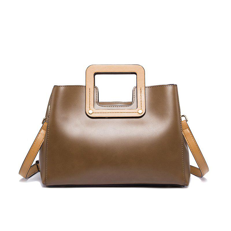 A One-Shoulder Bag with A Handbag - BROWN