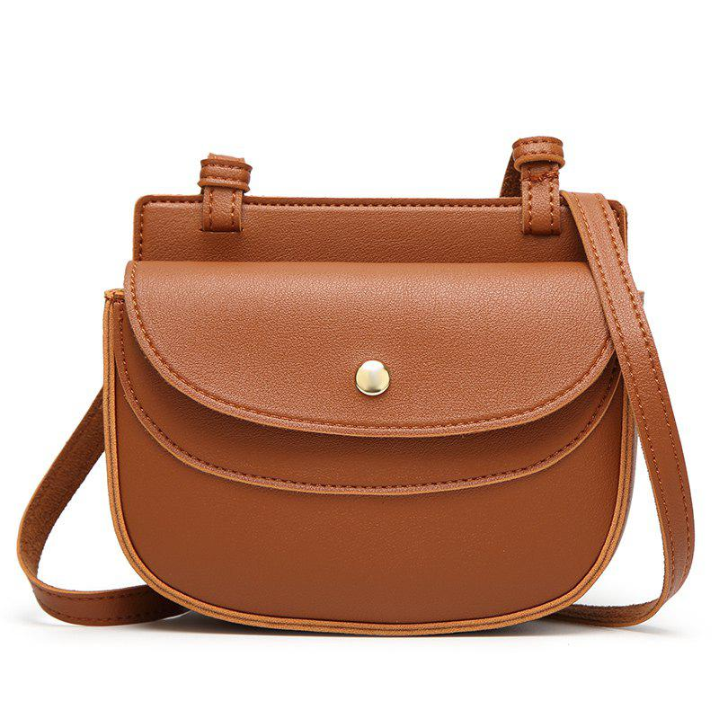 Girl's New Fashion Trend Single Shoulder Woman Bag - BROWN